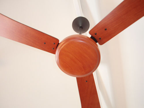Ceiling fan wooden components custom made